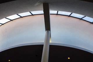 The circular ceiling and dramatic use of support structures creates breathtaking views.