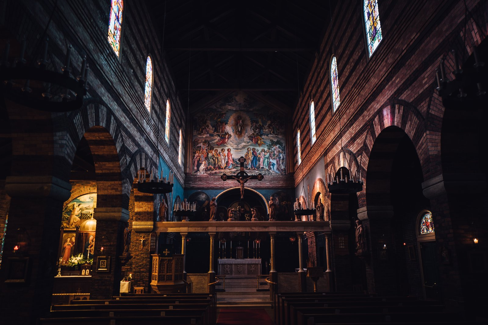 The marvelous interior of The Anglican Parish of Saint Mark in NW Portland.  Photo 7 of 10 in The Opinionated Leica Q