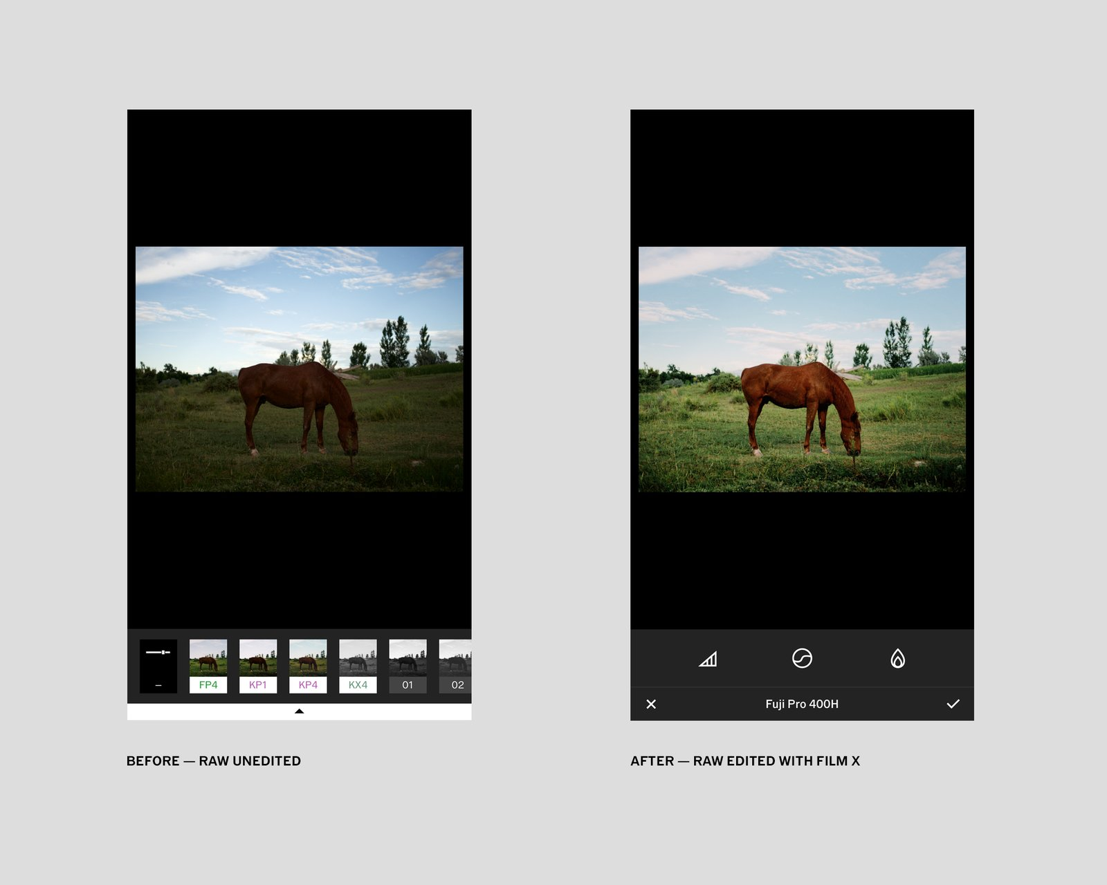 VSCO X filters have 2 extra editing modes: character and warmth that allow precision control over how presets are applied.  Photo 2 of 10 in VSCO RAW/X and Topo Designs