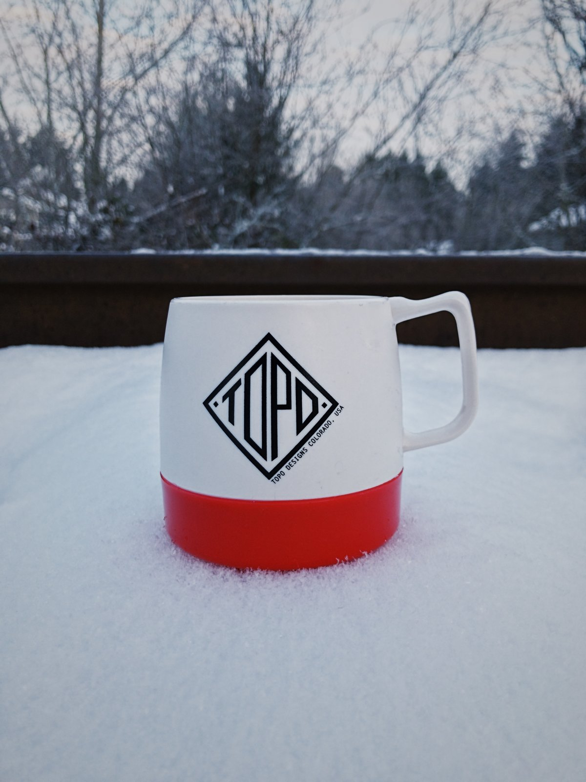 The Topo mug seemed right at home in the frosty cold surroundings.  Photo 5 of 10 in VSCO RAW/X and Topo Designs