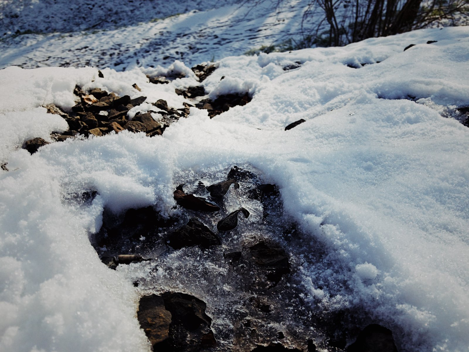 Ice and snow crust a rocky embankment  Photo 10 of 10 in VSCO RAW/X and Topo Designs