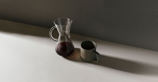 Shadows and light mix in this Chemex brew from Penrose.