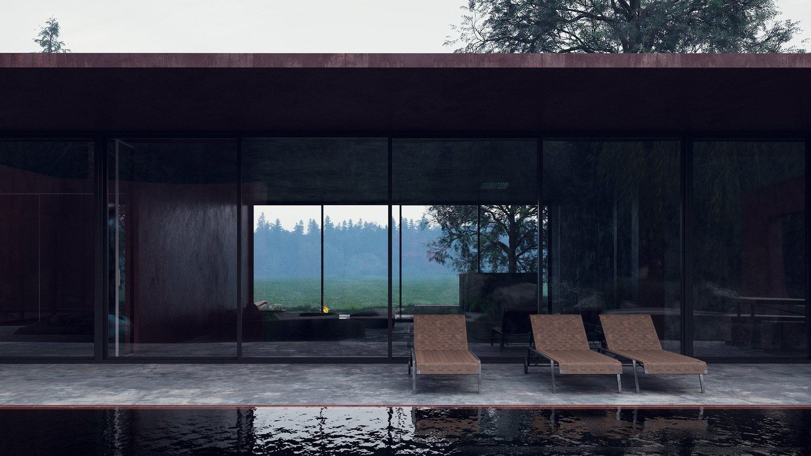 Infinity Pools, Tubs, Shower and Outdoor Large glass openings on virtually every side of the structure allow the structure to be engulfed by natural beauty.  Photo 2 of 6 in Rose House Blooms in Ukraine's Carpathian Mountains