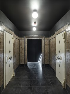 Walking through the bank's old vaults reveals the way visitors can access the spa.