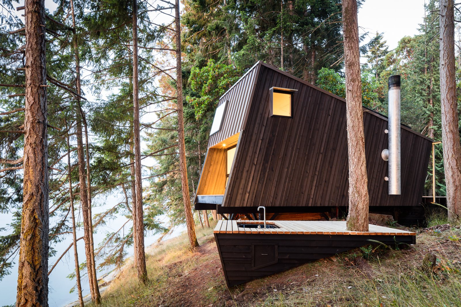 Exterior, Cabin Building Type, House Building Type, Shed RoofLine, and Wood Siding Material  Best Photos from cabin