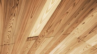 The Community-Run Cedar House by Airbnb and Go Hasegawa Welcomes Guests in Rural Japan - Photo 7 of 12 - The intricacy of the roof paneling can be seen in this close-up detail of the ceiling.