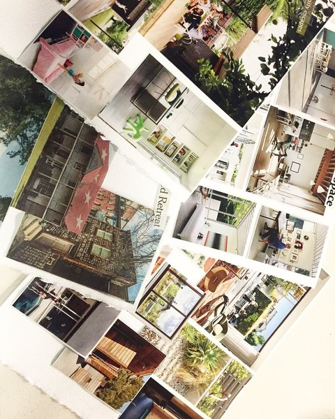 San Francisco photographer Nikki Janda's inspiration board, composed of old clippings from Dwell issues, was guaranteed to grab our attention. See her profile for studies in color and modern architecture.