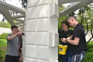 Students Invest their Time to Maintain Local Mid-Century Modern National Historic Landmark - Photo 1 of 5 -