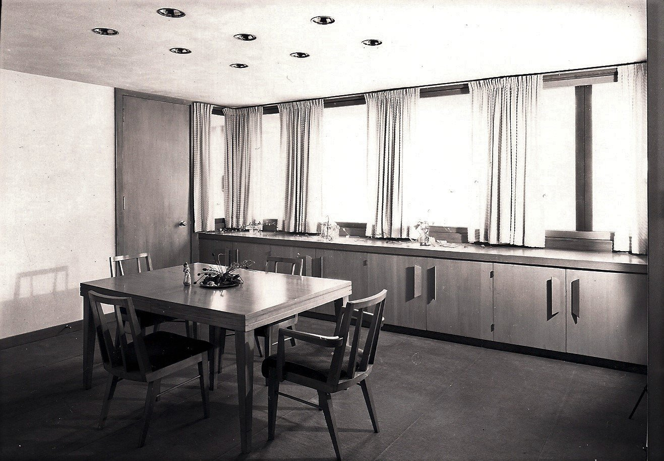 Dining Room  The Clark T. Wells Residence by Alden B. Dow