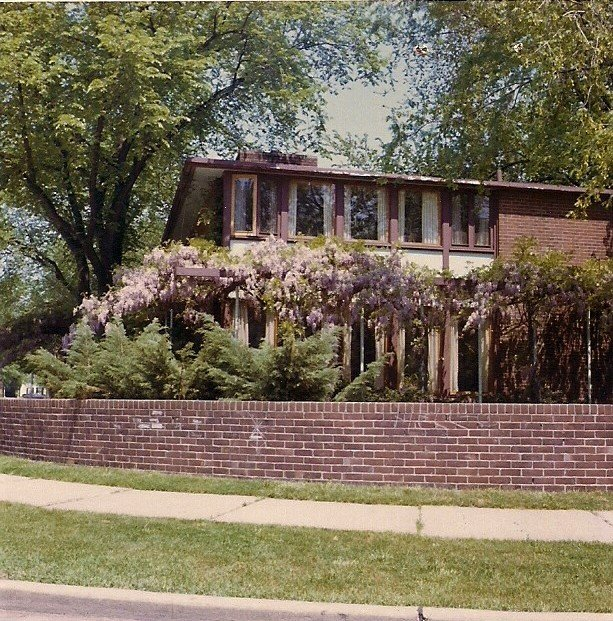Exterior, Brick Siding Material, Wood Siding Material, House Building Type, and Shingles Roof Material  The Clark T. Wells Residence by Alden B. Dow