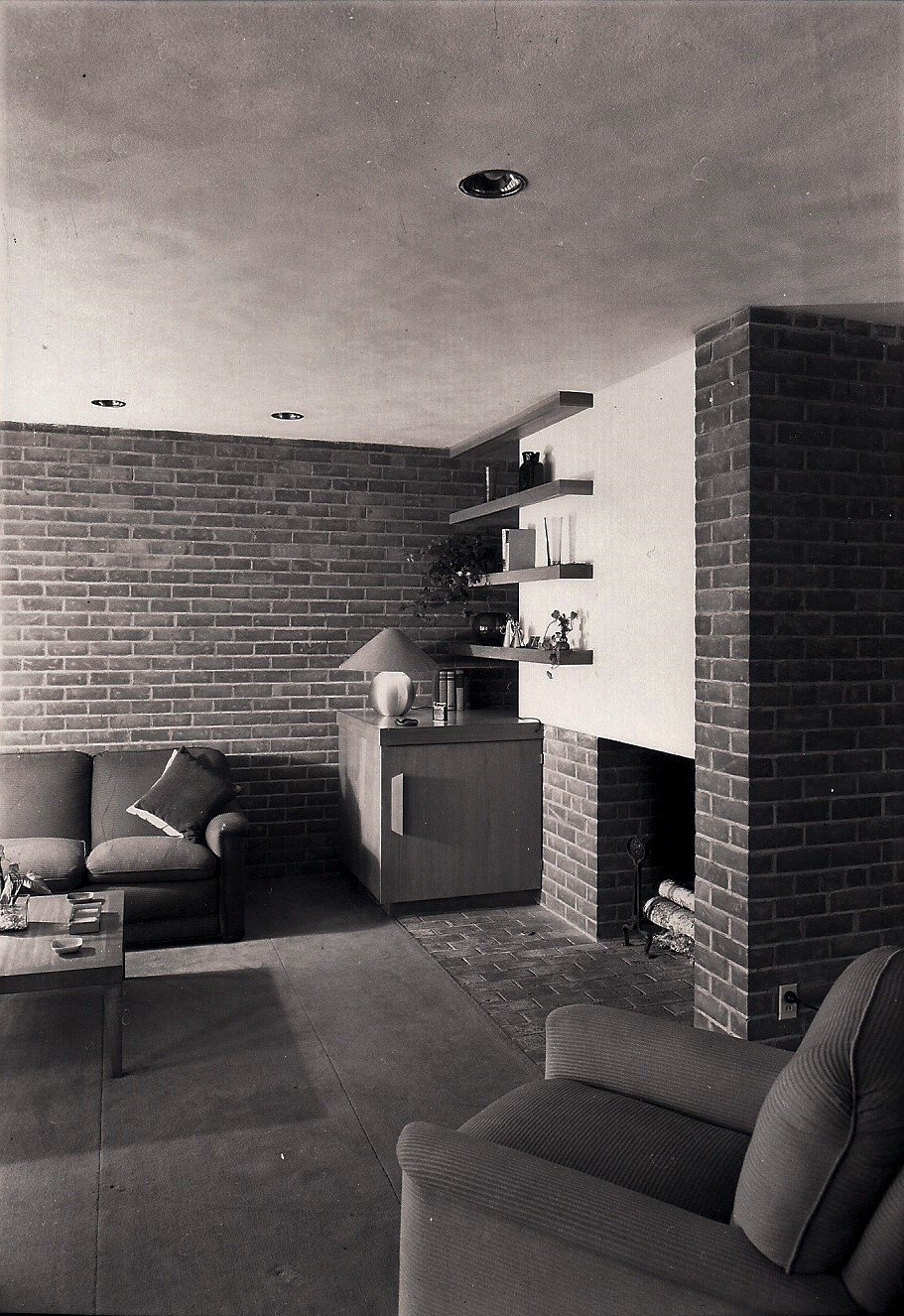Living Room  The Clark T. Wells Residence by Alden B. Dow