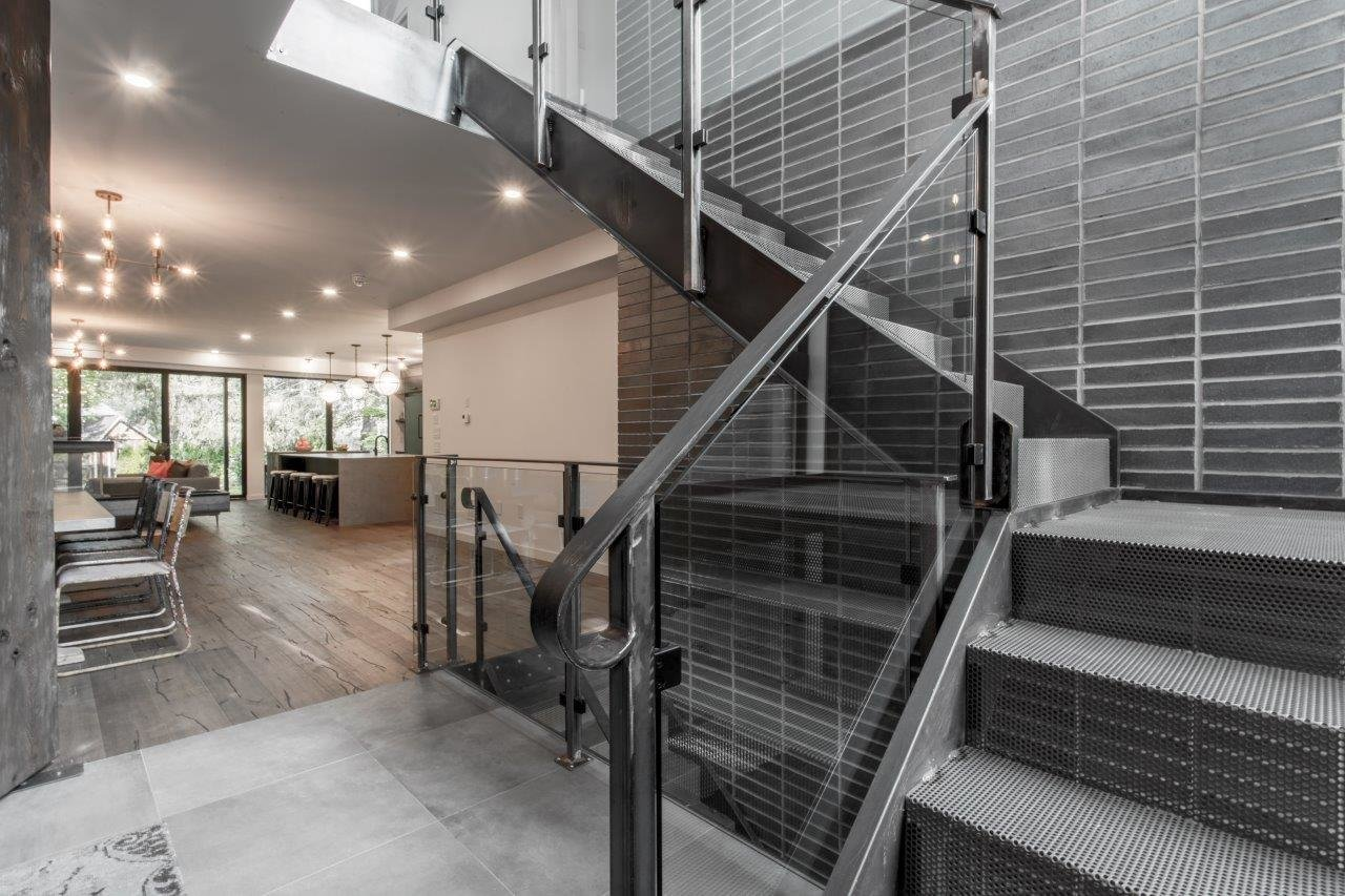 Staircase and Glass Railing  Modern Architectural Design