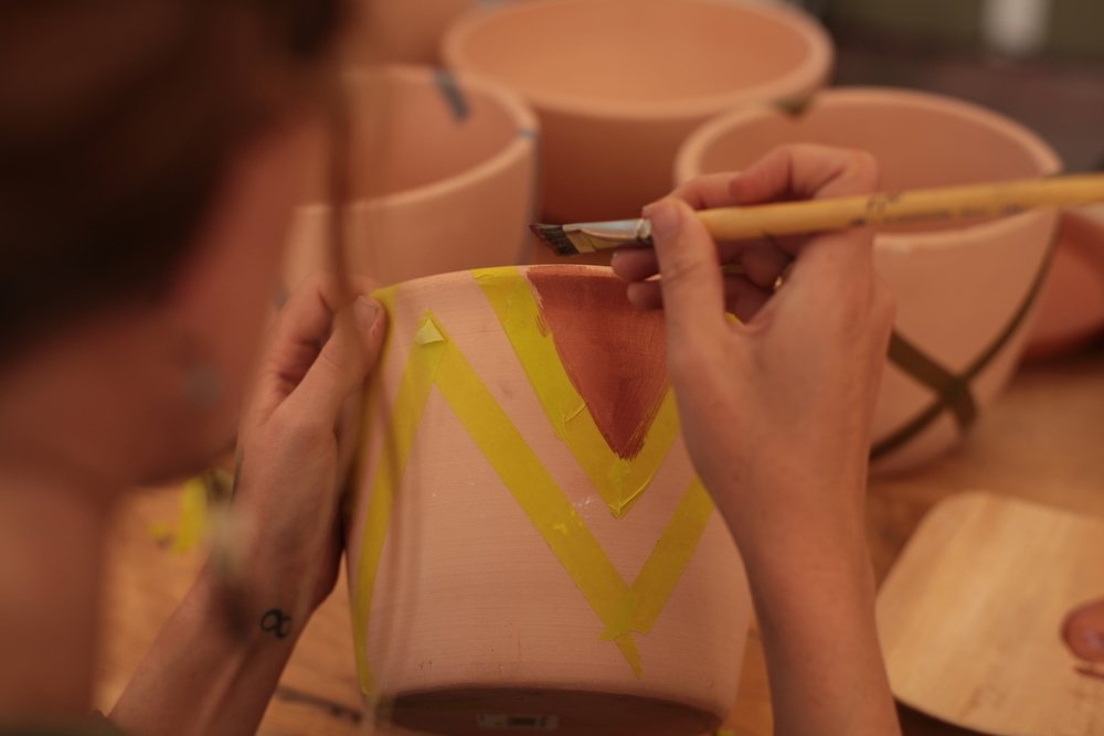 Photo 6 of 7 in Put a Plant on It | DIY Painted Terra Cotta Pots