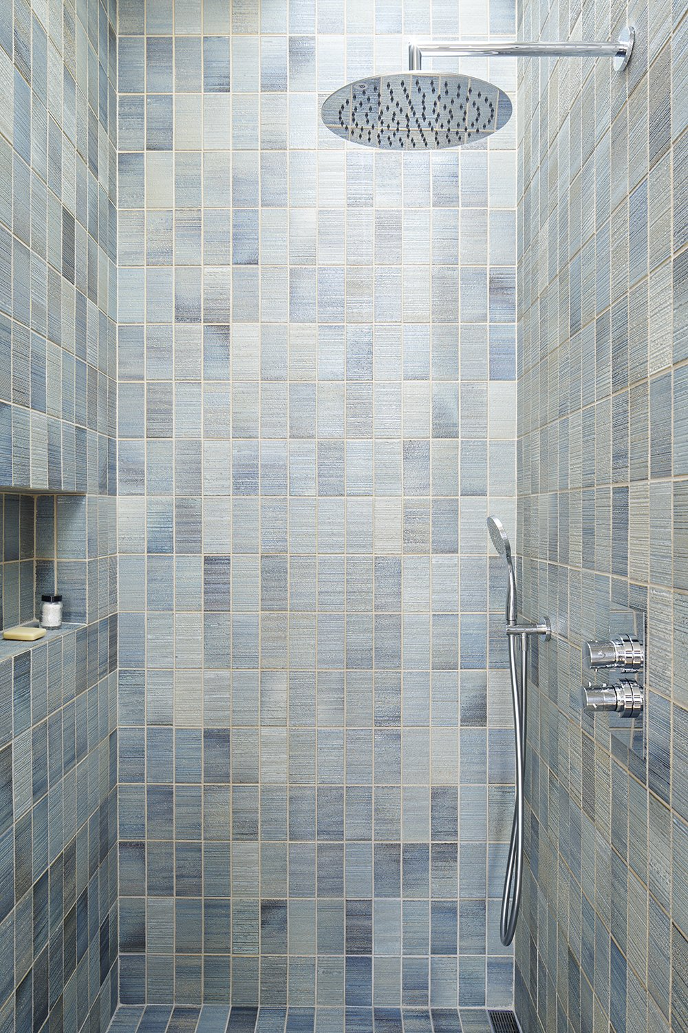 Bath Room, Enclosed Shower, and Ceramic Tile Wall  Randall Street by YAMAMAR Design