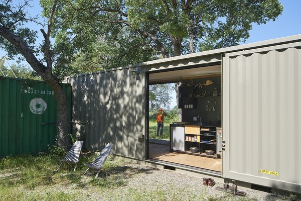 Exterior, Shipping Container, Metal, Metal, and Flat  Best Exterior Metal Shipping Container Photos from Container Cabin