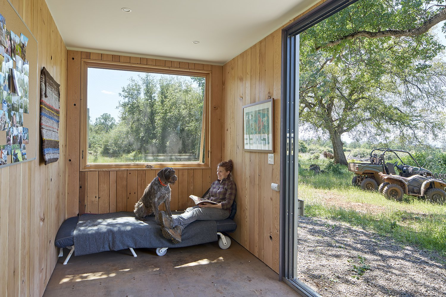Living Room and Bench  Container Cabin by YAMAMAR Design