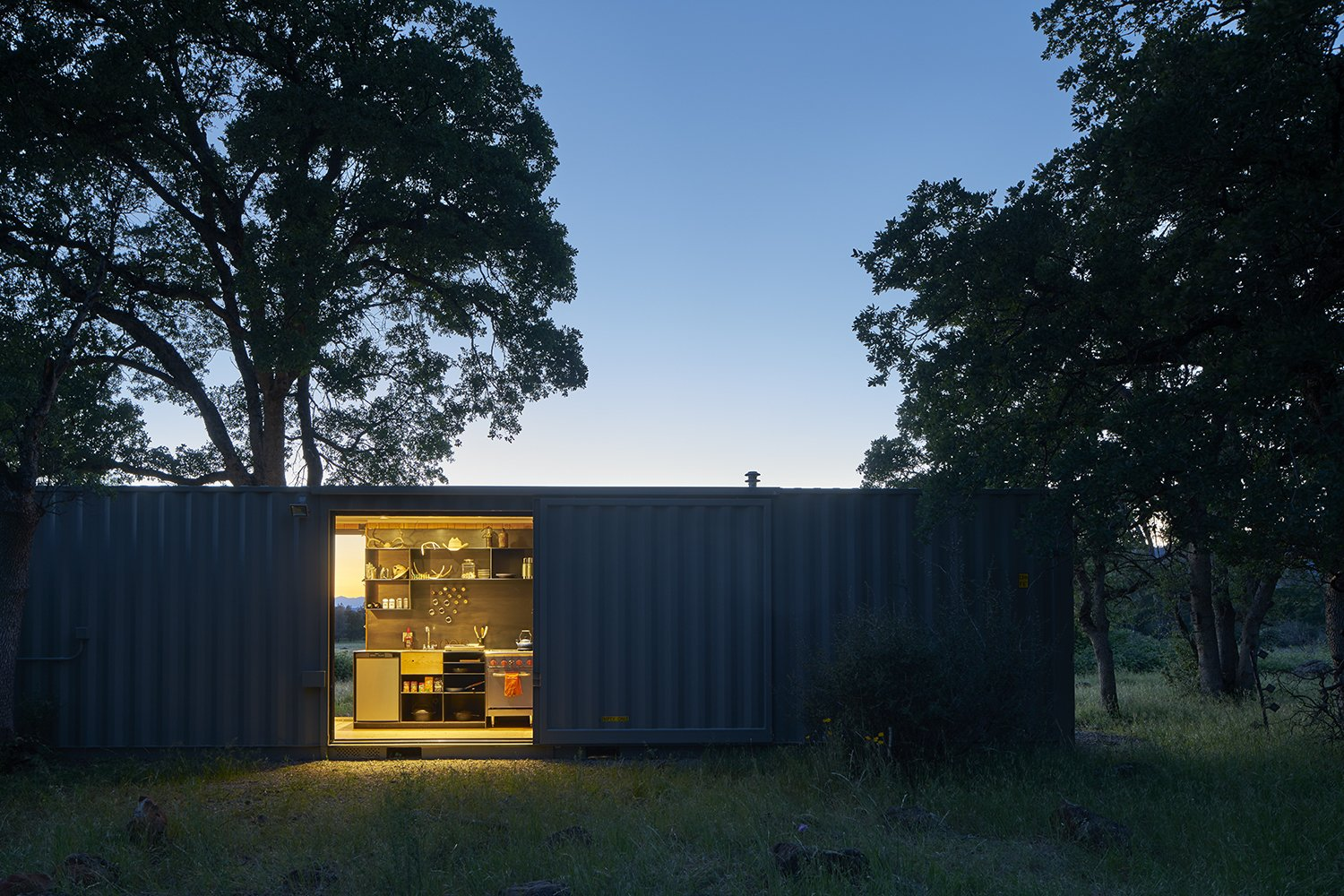 Exterior, Shipping Container Building Type, Metal Roof Material, and Flat RoofLine  Container Cabin by YAMAMAR Design