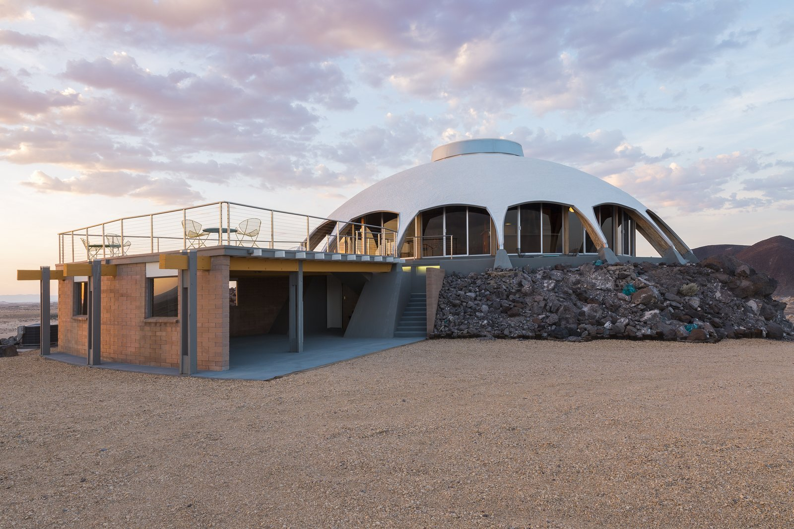 Outdoor and Desert  Volcano House by lance gerber