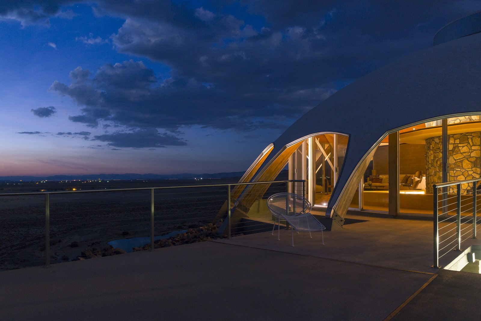Outdoor, Desert, and Large Patio, Porch, Deck  Volcano House by lance gerber