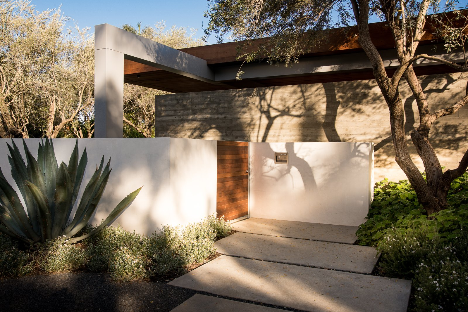 Outdoor, Concrete Fences, Wall, Front Yard, Gardens, Hardscapes, Horizontal Fences, Wall, and Landscape Lighting  Ravoli Drive Residence