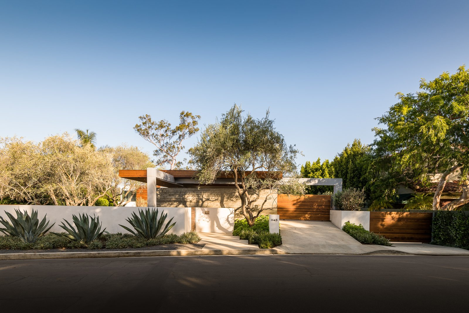 Outdoor, Landscape Lighting, Front Yard, Hardscapes, Wood Fences, Wall, Gardens, Trees, and Concrete Fences, Wall  Ravoli Drive Residence