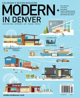 Custom illustrated Modern In Denver cover by Christian Musselman
