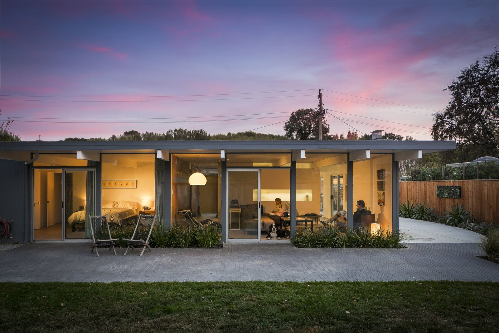 Exterior, Mid-Century Building Type, Flat RoofLine, and House Building Type  Marinwood Eichler by building Lab