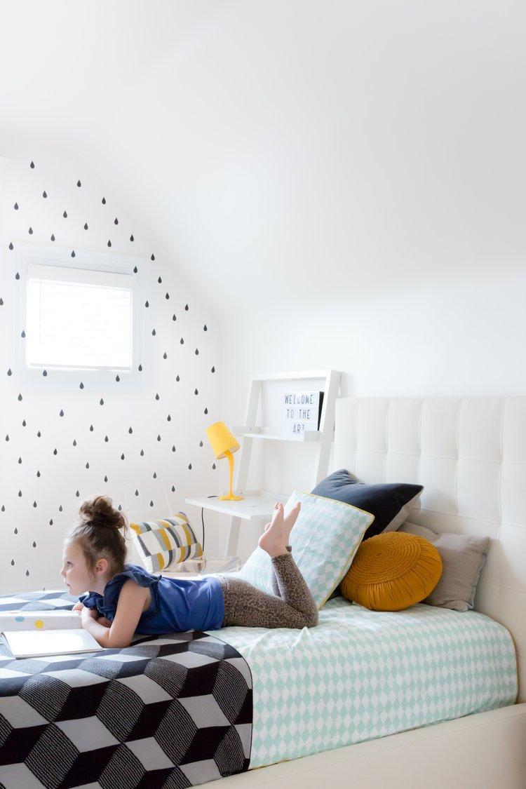Kids Room, Girl Gender, Bed, Bedroom Room Type, Pre-Teen Age, and Shelves    Noe Valley Parisian Atelier by Regan Baker Design