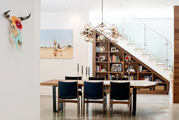 Dining, Storage, Ceiling, Shelves, Chair, Table, and Pendant  Best Dining Ceiling Shelves Photos from Casual Hip Marin County
