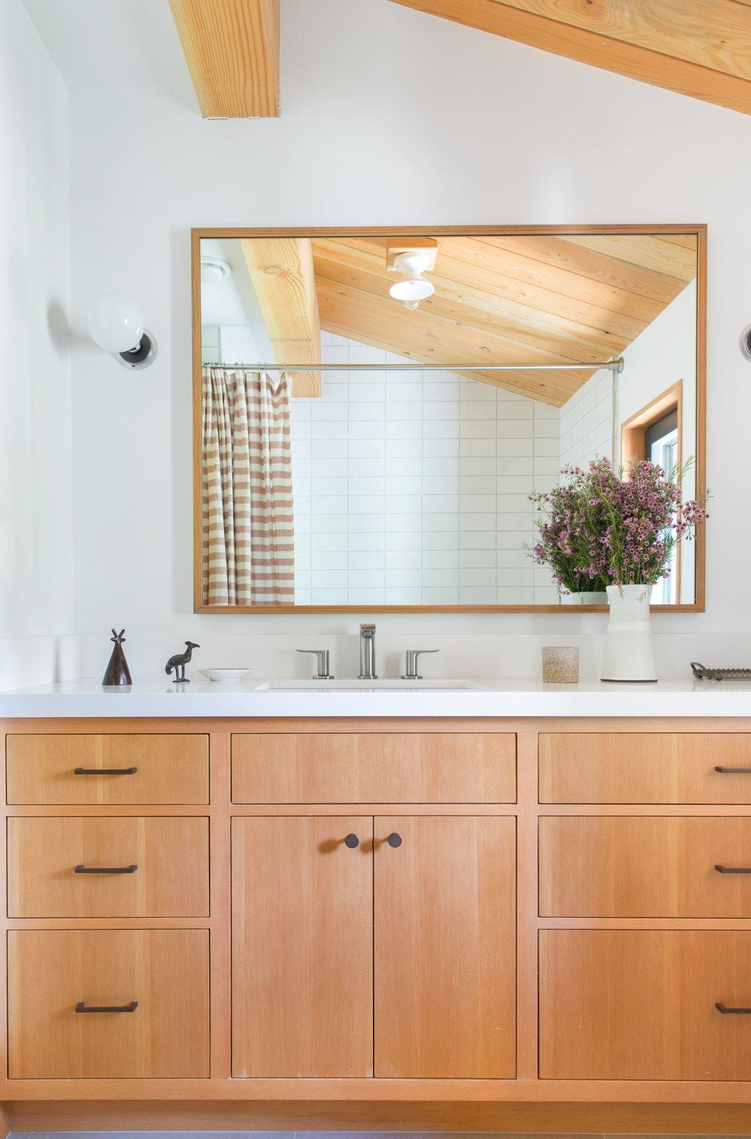Bath Room  Woodsy Tahoe Cabin by Regan Baker Design