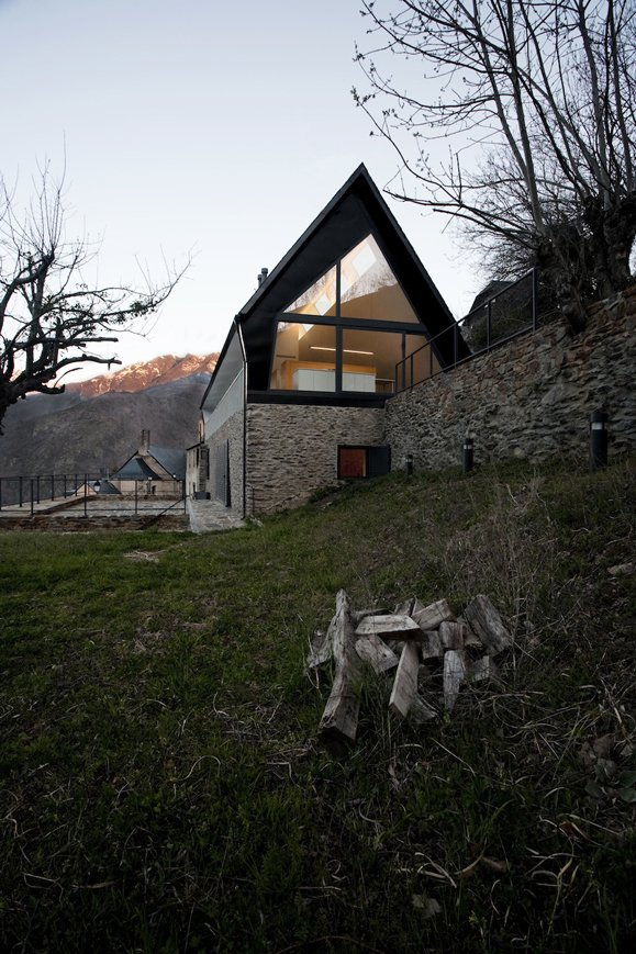Outdoor  Photo 2 of 10 in 10 Modern Renovations to Homes in Spain from Modernizing An Historic House in the Pyrenees