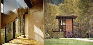 Inside Washington State's Steel Cabin On Stilts - Photo 3 of 5 -
