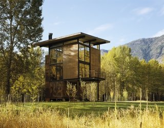 Inside Washington State's Steel Cabin On Stilts - Photo 5 of 5 -