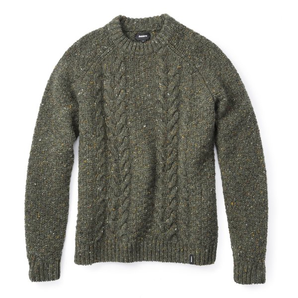 Finisterre Westray Crew Sweater in Moss