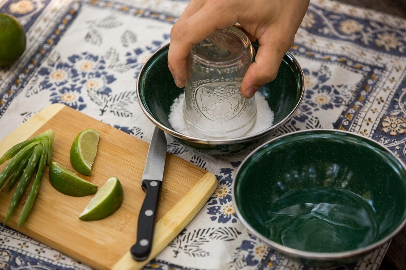 Photo 4 of 6 in How to Make Aloe Vera Margaritas