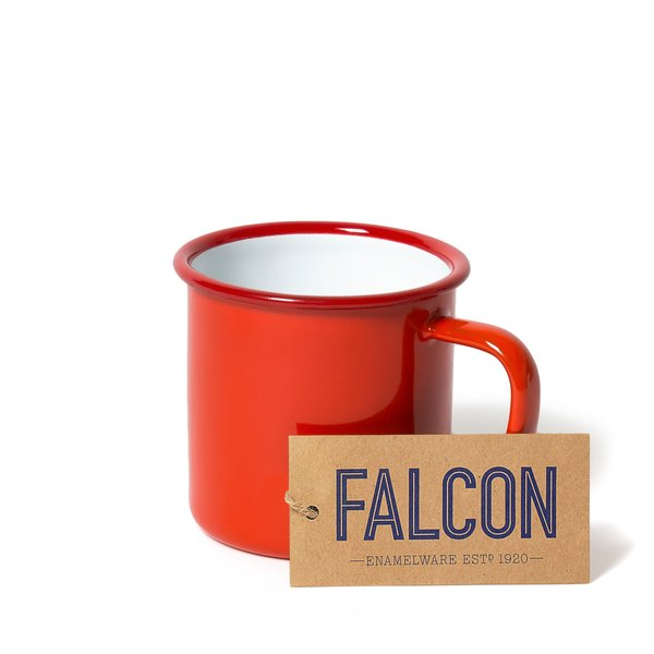Falcon Enamelware Mug Set in Pillarbox Red