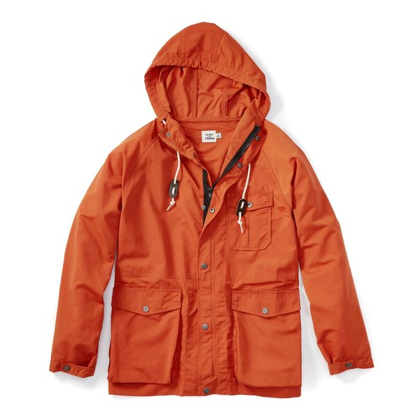 Flint and Tinder Ridge Shell Jacket in Burnt Orange