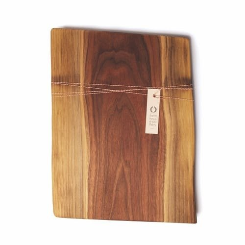 "Farmhouse Pottery Live Edge Walnut Cutting Board (8"")"