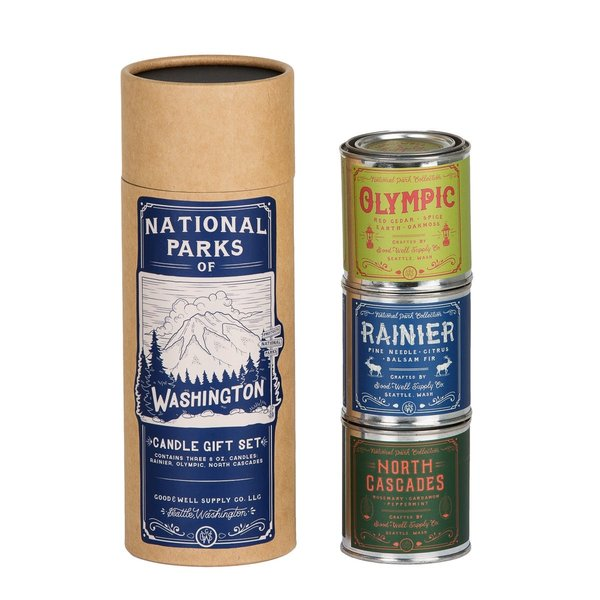 National Parks of Washington Candle Set