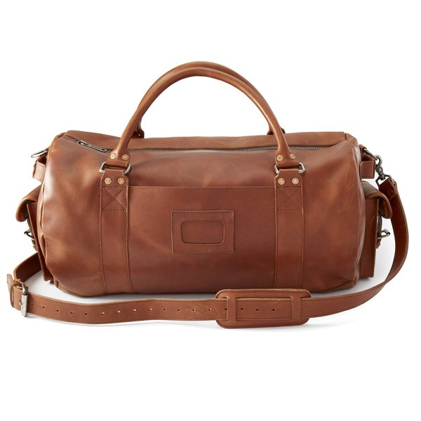 Denver Leather Travel Duffel Bag
