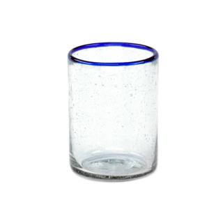 Blue Rim Juice Glass