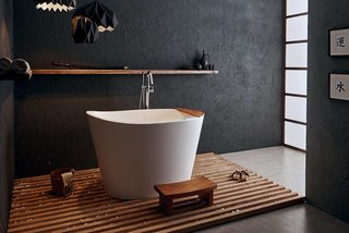 Aquatica True Ofuro Japanese Deep Soaking Freestanding Bathtub