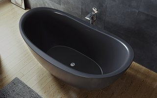 Aquatica Purescape 171 Black Solid Surface Freestanding Bathtub - Photo 1 of 2 -