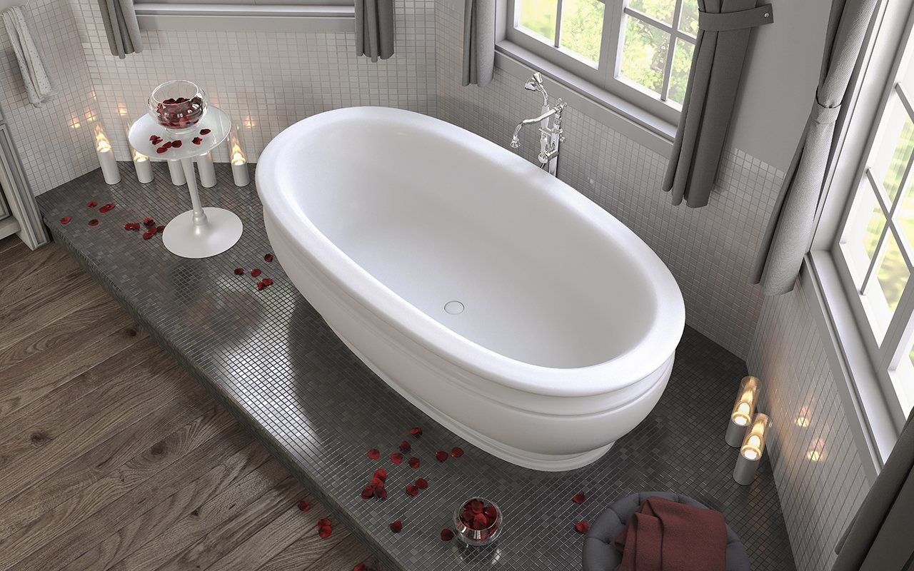 Photo 2 of 2 in Aquatica Olympian by Savio Vintage freestanding bathtub