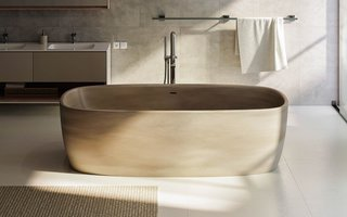 Aquatica Coletta Solid Surface Freestanding Bathtub - Photo 2 of 2 -
