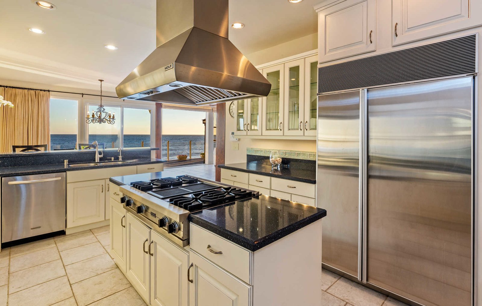 Kitchen  It's All About The Light at This Traditional Malibu Beach House