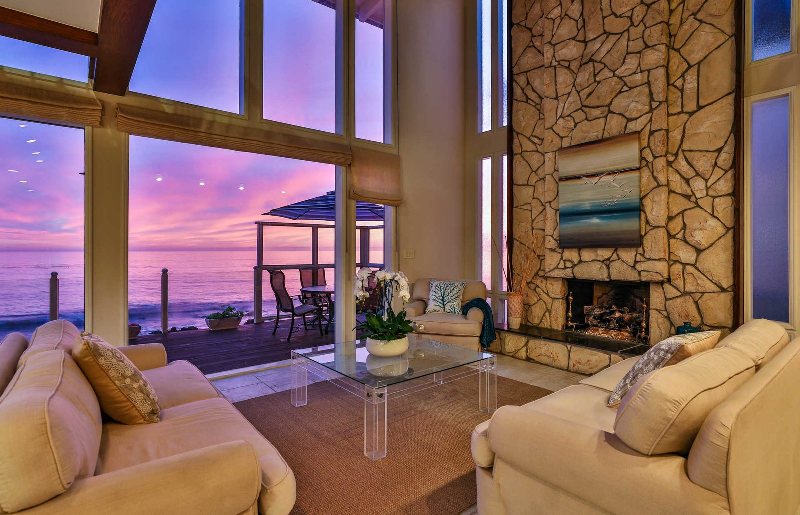 Living Room  It's All About The Light at This Traditional Malibu Beach House