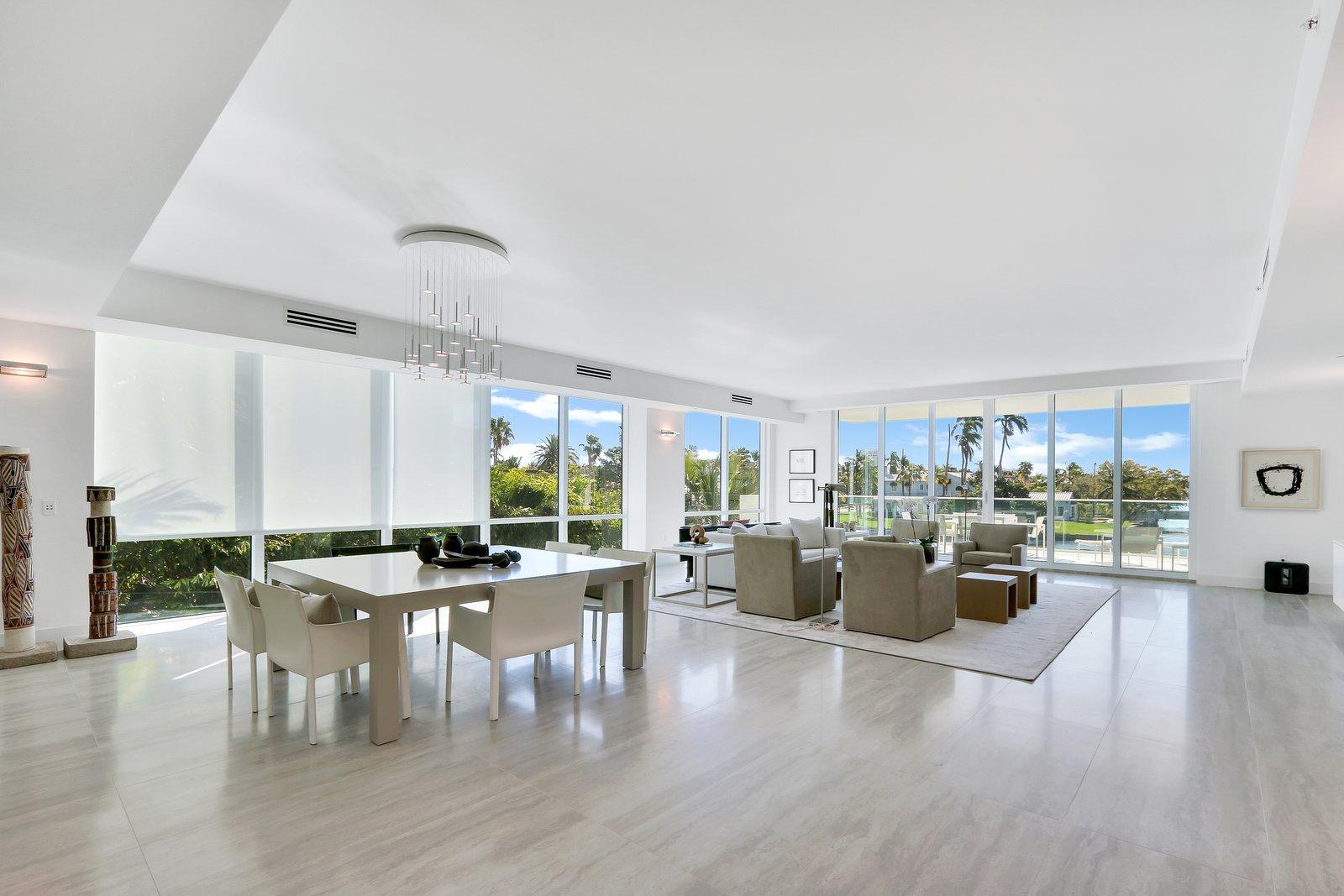 Living Room  Striking, Modern Waterfront Residences Debut Along Fort Lauderdale's Picturesque Sunset Lake