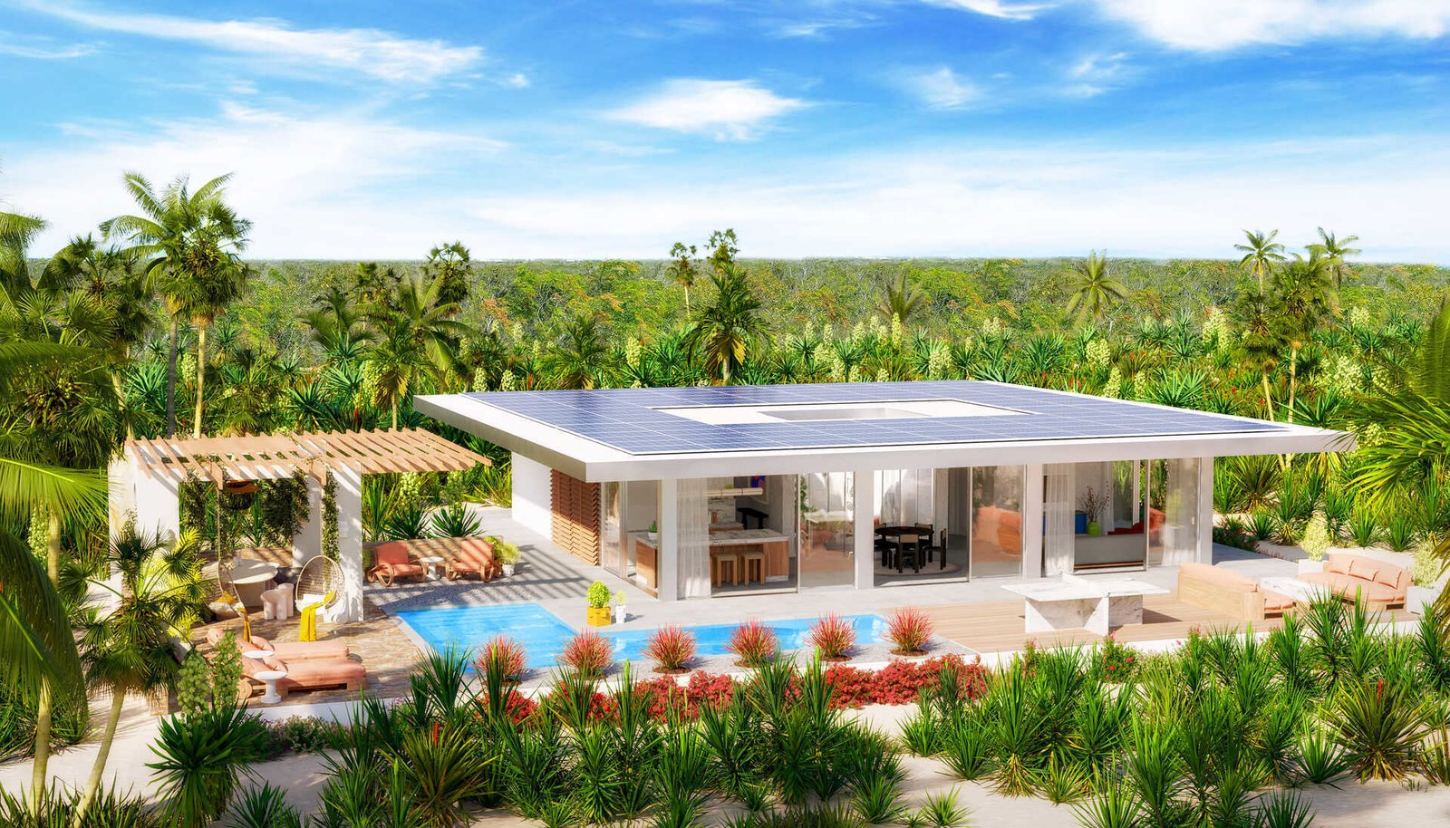 Photo  of Sustainable Living Steps From The Beach at Karaya Blue in Turks & Caicos modern home