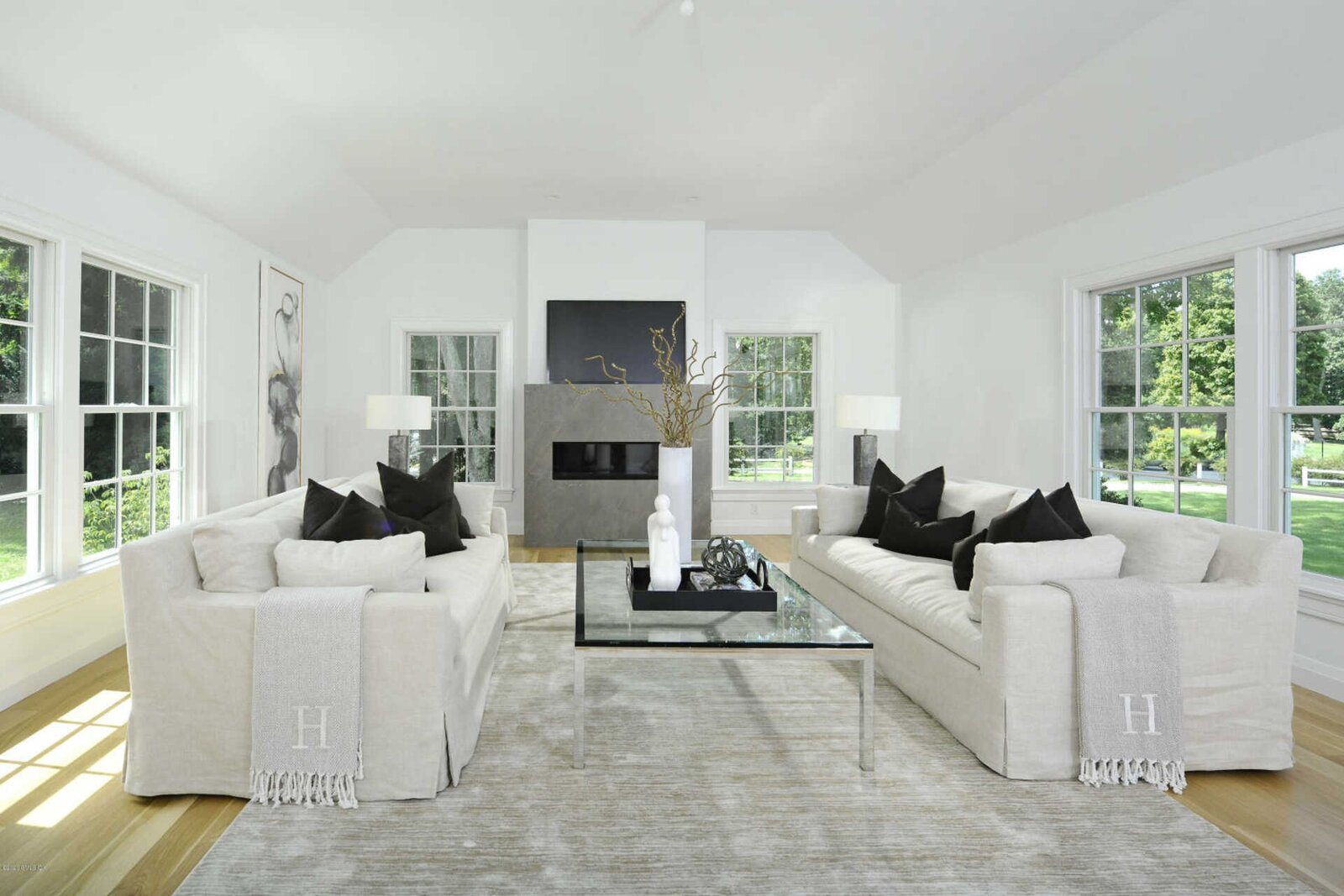 Living Room  A Colonial-Style Connecticut Home Offering Peace and Privacy from NYC